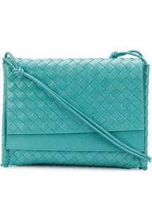 Bottega Veneta Medium Intrecciato Shoulder Bag - Azul