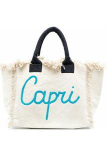 Mc2 Saint Barth Bolsa De Praia Capri Com Estampa De Logo - Neutro