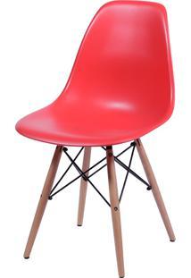 Cadeira Eames Dkr C/ Base De Madeira Or-1102B – Or Design - Vermelho