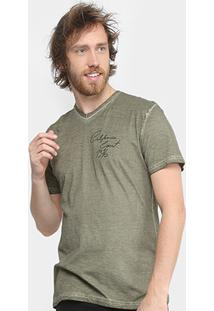 Camiseta Tigs Gola V Estonada California Coast 1976 Masculina - Masculino-Verde