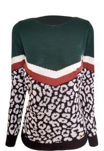 Pullover Alegra Blusa Print Verde