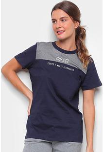 Camiseta Colcci Corpo E Mente Feminina - Feminino-Azul