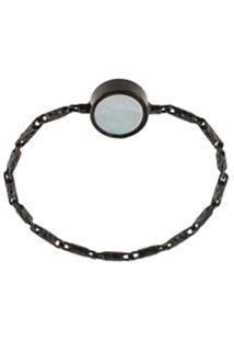 Xte Chain Band Stone Ring - Preto