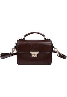Bolsa Carteiro - Marrom Escuro - 23X33X14Cmfellipe Krein