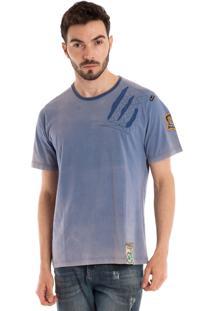 Camiseta Básica Konciny Manga Curta Lilás