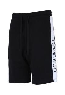 Bermuda Moletinho Calvin Klein Recortes - Masculina - Preto/Branco
