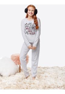 Pijama Manga Longa Estampado Malwee Liberta
