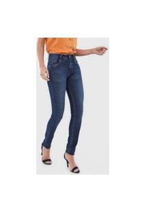 Calça Jeans Iodice Skinny Estonada Azul
