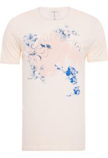 Camiseta Masculina Estampa Califórnia - Rosa