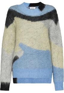 Ambush Suéter Com Padronagem Geométrica - Azul