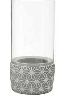 Castiçal Geométrico- Cinza & Cinza Claro- 6Xø9Cmurban