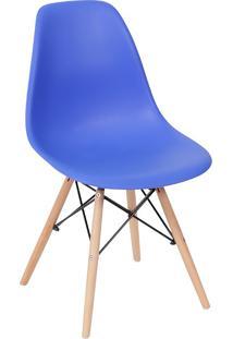 Cadeira Em Mdp/Mdf Base Escura 1102-Or Design - Azul Escuro