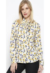 Camisa Arabescos - Branca & Dourada - Vip Reservavip Reserva