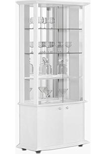 Cristaleira Monalisa 04 Portas Branco Acetinado - Imcal