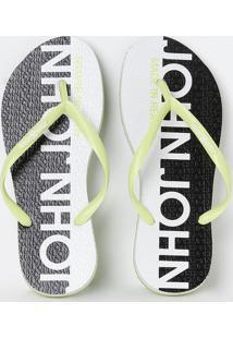 Chinelo Made In Heaven Lime- Verde Claro & Pretojohn John