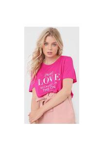 Camiseta Colcci Love Rosa