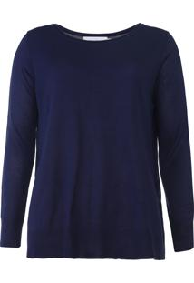 Blusa Calvin Klein Recortes Azul-Marinho - Kanui
