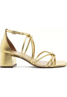 Sandália Flora Dourado | Alme