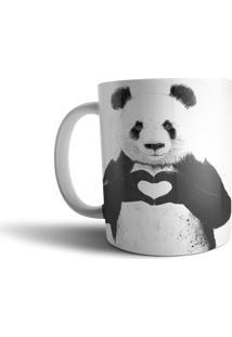 Caneca Live Panda Lovers Preto