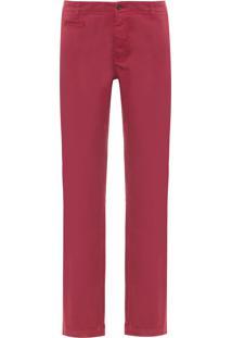 Calça Masculina Chino Colors - Vermelho