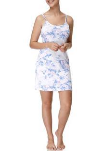 Camisola Feminina Branco/Azul