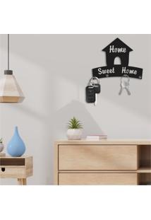Porta Chaves Decorativo Em Mdf Home Sweet Home Único