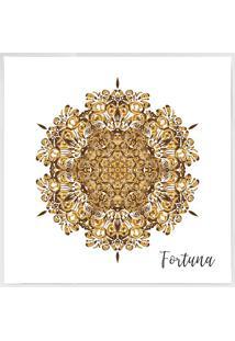 Quadro Decorativo Mandala- Branco & Marrom Claro- 40Arte Prã³Pria