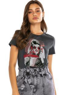 Blusa Preta Rock Girl