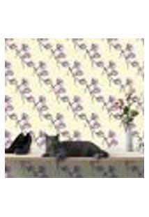 Papel De Parede Autocolante Rolo 0,58 X 3M - Flores 285827411