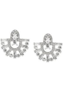 V Jewellery Par De Brincos 'Runa' - Metálico