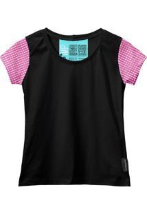 Camiseta Baby Look Feminina Algodão Estampa Xadrez Casual Vermelho/Preto Pp Vermelho