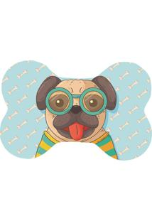 Tapete Love Decor Wevans Pet Pug Happy Azul