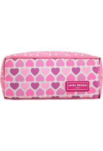 Necessaire/Estojo Jacki Design - Flor Ahl17525-Co-Rs Rosa Unico