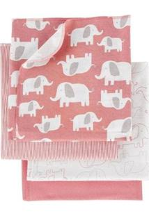 Manta Carter'S Elefante Feminino - Feminino-Rosa