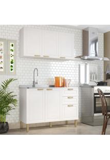Cozinha Completa 2 Peças Americana Multimóveis 5923 Branco