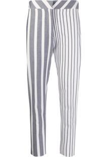 Atu Body Couture Calça Cropped Listrada - Branco