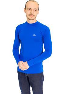Camiseta Mprotect Térmica Manga Longa Azul Royal