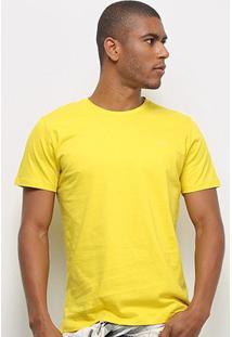 Camiseta T-Shirt Colcci Basic Masculina - Masculino-Amarelo