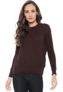 Suéter Amber Tricot Textura Vinho