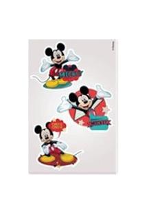Kit Mickey 10 Cartelas Adesivo Parede Mickey Disney