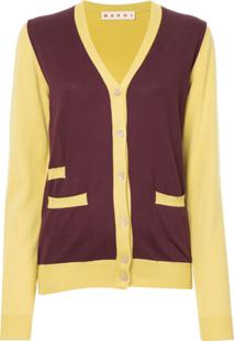 Marni Cardigan Color Block - Amarelo