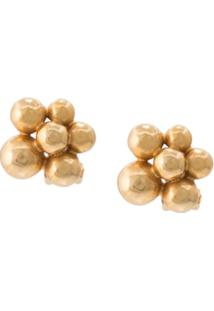 Oscar De La Renta Bauble Earrings - Dourado