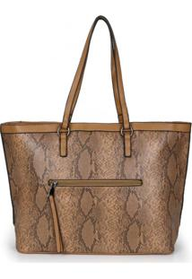 Bolsa Shopping Bag Madame Marie Caramelo