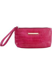 Carteira Em Textura Animal- Pink- 12X2X22Cmfellipe Krein