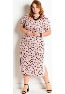 Vestido Com Faixa Lateral Plus Size Coração