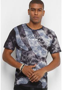 Camiseta Cavalera Esfumado Masculina - Masculino-Preto