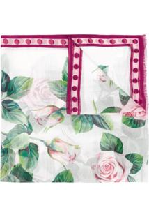 Dolce & Gabbana Echarpe Rosa Com Estampa De Rosas