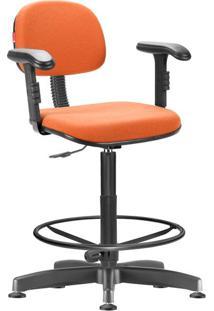Cadeira Caixa Alta Laranja Com Braços Secretária