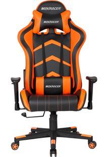 Cadeira Gamer Reclinável Max Racer Aggressive Agg-4 Laranja E Preta