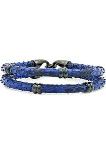 Pulseira Python Double Dark Blue